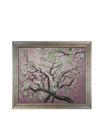 Vincent Van Gogh Branches of an Almond Tree in Blossom Framed Oil Painting, Pink