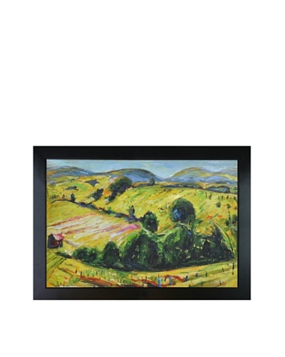 """Oil Reproduction of Alfred Maurer's """"Fauve Landscape with Rolling Hills,"""" 1914"""