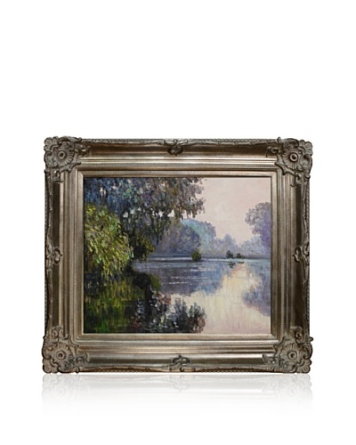 Claude Monet Morning on the Seine near Giverny Framed Oil Painting, 20 x 24