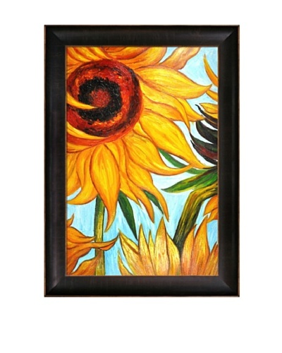 Vincent Van Gogh Vincent Sunflowers Framed Oil Painting
