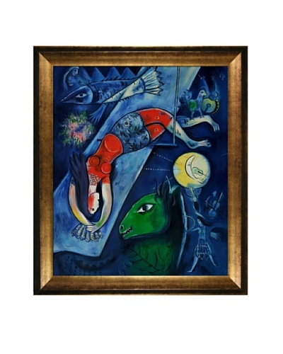 Marc Chagall The Blue Circus Framed Oil Painting, 24 x 20