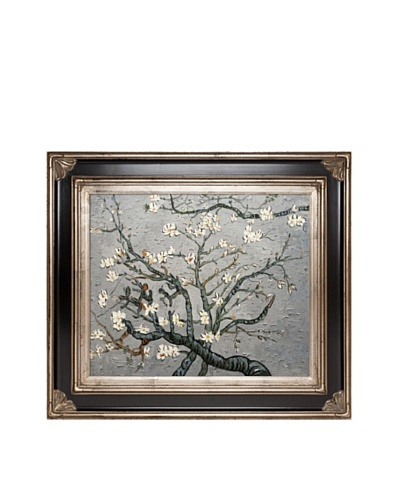 Vincent Van Gogh Branches of An Almond Tree In Blossom Framed Oil Painting, Pearl Grey