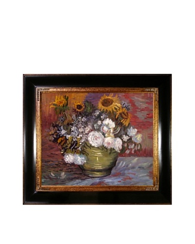 Vincent Van Gogh Sunflowers, Roses & Other Flowers Framed Oil Painting
