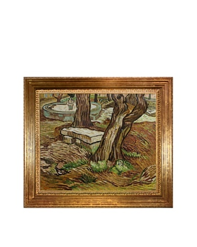Vincent Van Gogh Stone Bench at St Remy Framed Oil Painting