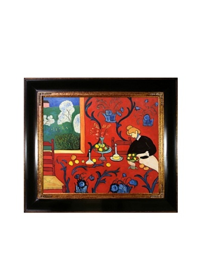 Armonia Rojo Framed Reproduction Oil Painting by Henri Matisse