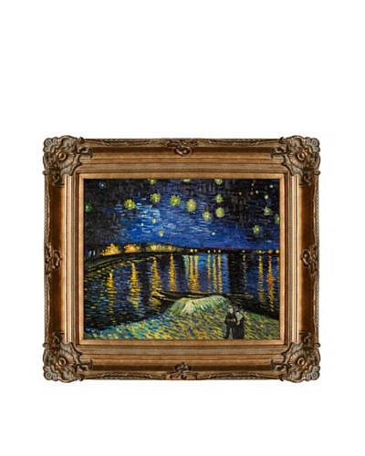Vincent Van Gogh Starry Night Over The Rhone Framed Oil Painting