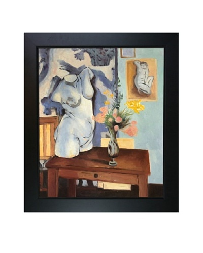 Greek Torso with Flowers Framed Reproduction Oil Painting by Henri Matisse