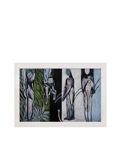 Bathers by a River Framed Reproduction Oil Painting by Henri Matisse