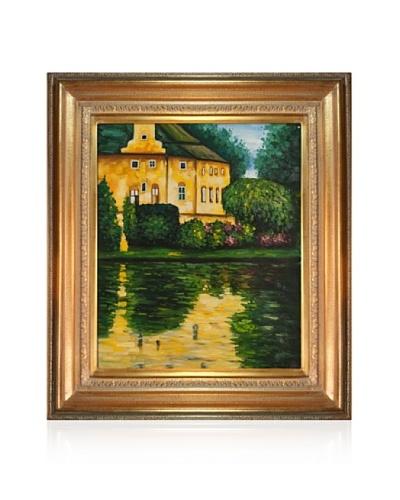 Gustav Klimt Schloss Kammer on Attersee Framed Oil Painting