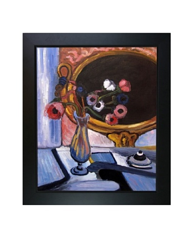 Anemone and Mirror Framed Reproduction Oil Painting by Henri Matisse