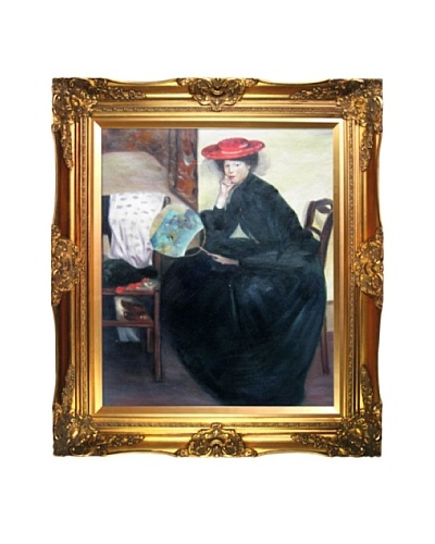 """Oil Reproduction of Alfred Maurer's """"Model with a Japanese Fan""""As You See"""