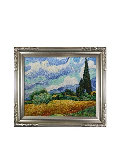 Vincent Van Gogh Wheat Field with Cypresses Framed Oil Painting