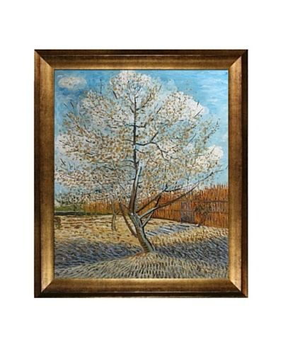 Vincent Van Gogh Pink Peach Tree in Blossom Framed Oil Painting