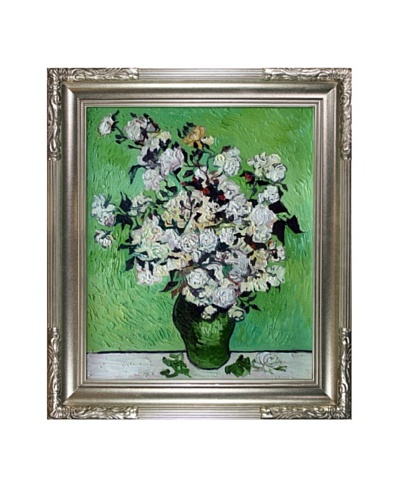 Vincent Van Gogh Vase with Roses Framed Oil Painting