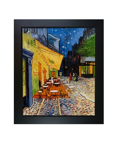Vincent Van Gogh Cafe Terrace at Night Framed Oil Painting