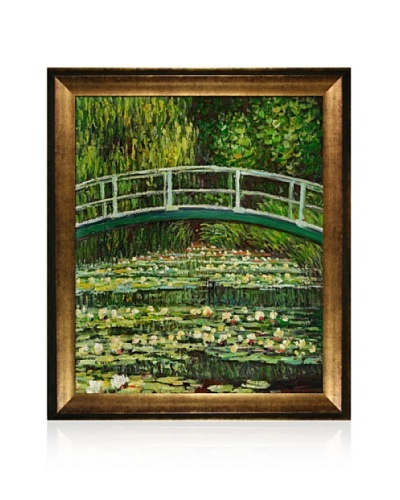 Claude Monet The Japanese Bridge Framed Oil Painting,  20 x 24