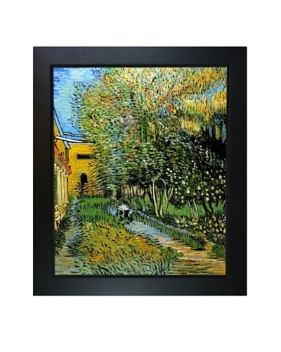 Vincent Van Gogh Asylum and Garden Framed Oil Painting