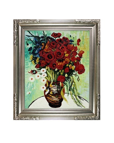 Vincent Van Gogh Vase with Daisies & Poppies Framed Oil Painting