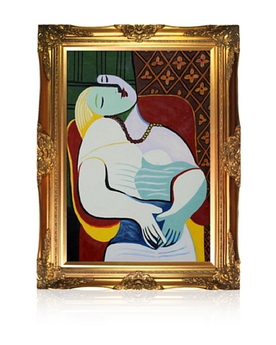 Pablo Picasso The Dream Framed Oil Painting, 24 x 36
