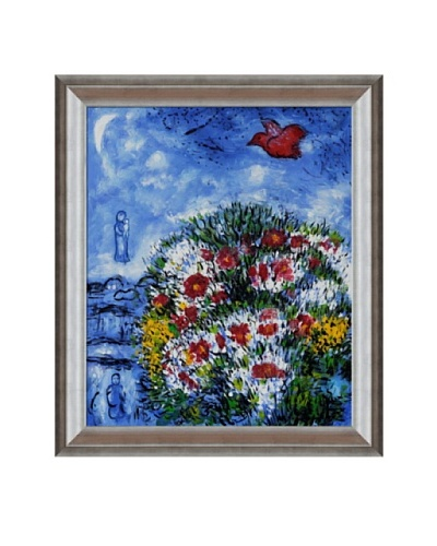 "Marc Chagall The Red Bird Framed Oil Painting, 20"" x 24"""
