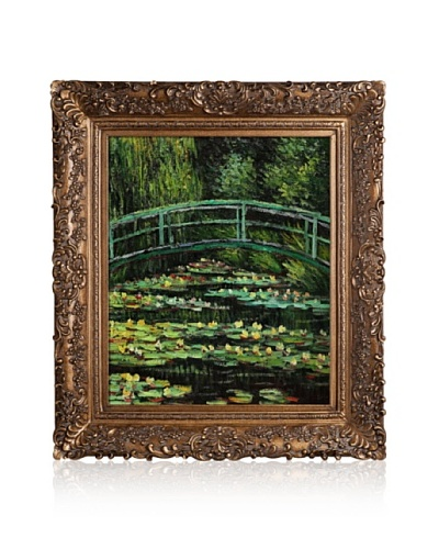 Hand-Painted Reproduction of Claude Monet White Water Lilies, 1899 Framed Oil Painting, 20 x 24