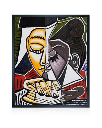 Pablo Picasso Tete d'une Femme Lisant Framed Oil Painting, 20 x 24