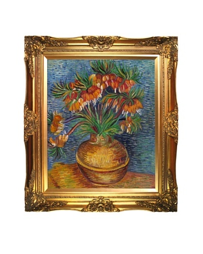 Vincent Van Gogh Vincent Crown Imperial Fritillaries in a Copper Vase Framed Oil Painting