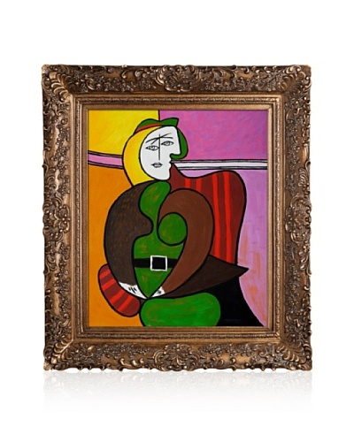 Pablo Picasso The Red Armchair Painting Framed Oil Painting, 20 x 24