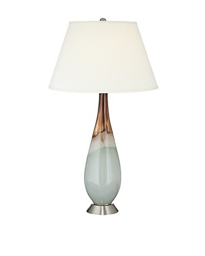 Pacific Coast Lighting Jade & Amber Hand Blown Glass Table Lamp