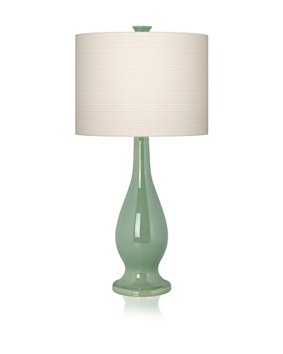 Pacific Coast Lighting Green Ceramic Vase Lamp