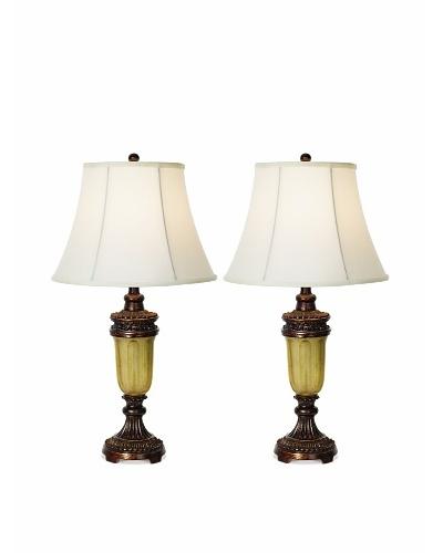 Pacific Coast Lighting Set of 2 Qiana Table Lamps