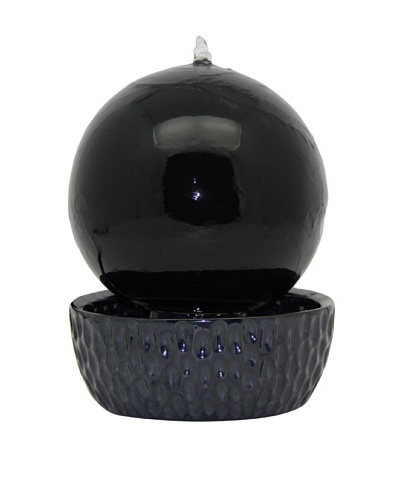 Pacific Décor Globe Fountain, Shiny Black, 13As You See