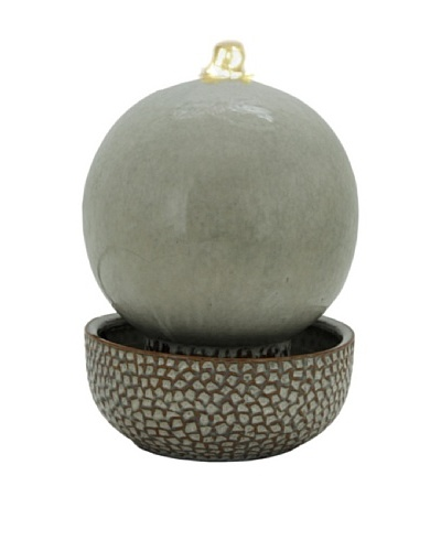 Pacific Décor White LED Globe Fountain, Sand, 11