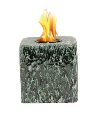 Pacific Décor Cube Flame Pot, Storm, 6""