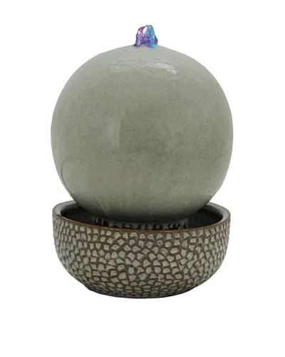 Pacific Décor Multi-LED Globe Fountain, Sand, 11