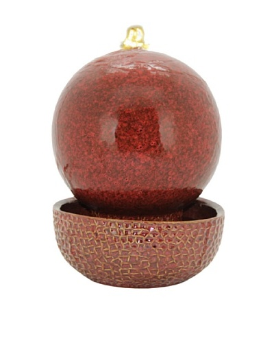 Pacific Décor Sphere Fountain with White LED Light [Ruby]