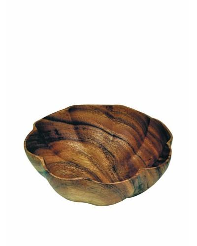 """Pacific Merchants Set of 4 Acaciaware Individual 6"""" Scalloped Bowls"""