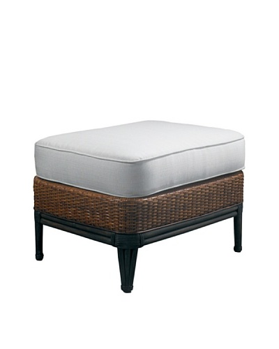 Padma's Plantation Outdoor Palm Beach Ottoman, Antiqued Natural