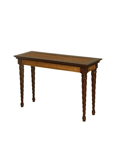 Padma's Plantation Trinidad Console Table, Antiqued Natural