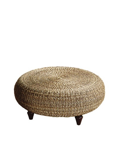 Padma's Plantation Tropical Ottoman, Natural
