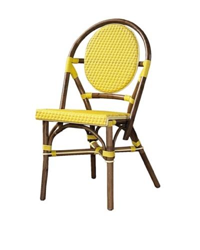 Padma's Plantation Set of 2 Paris Bistro Chairs, Yellow
