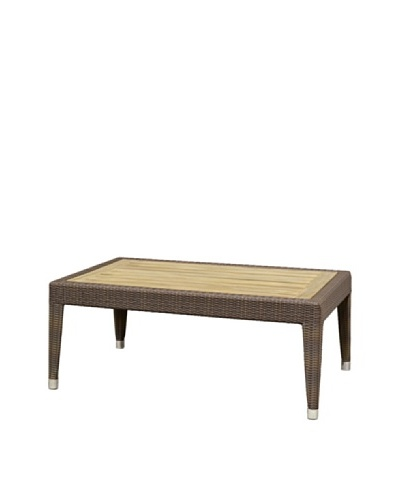 Palecek Hampton Outdoor Coffee Table, Natural/Dark Brown