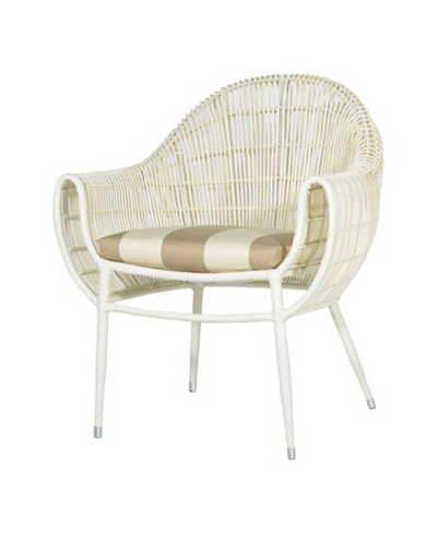 Palecek Piazza Outdoor Chair, Beige/Ivorystripe/Cream