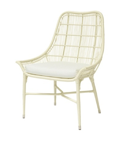 Palecek Lucca Outdoor Chair, Ivory/Cream