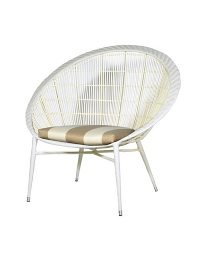 Palecek Argo Outdoor Chair, Beige/Ivorystripe/Cream