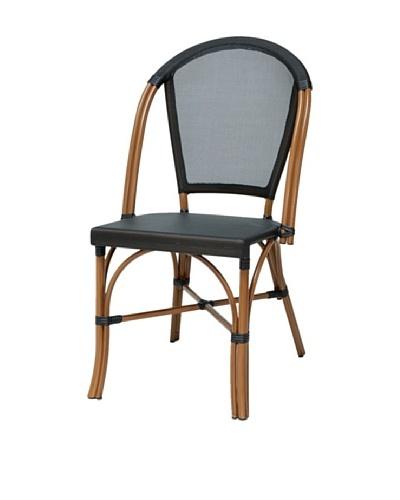 Palecek Indoor/Outdoor Paris Bistro Chair, Black/Natural