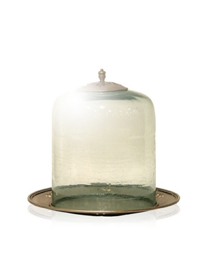 Palecek Dome Cloche Display, Clear/Gold/Silver