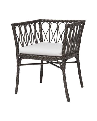 Palecek Sari Outdoor Chair, Ivory/Espresso