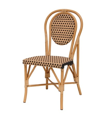 Palecek French Patio Outdoor Chair, Natural/Black
