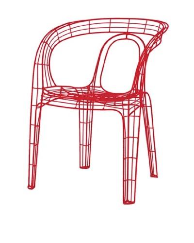 Palecek Mazatlan Outdoor Chair, Red